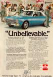 Dodge Ad For The Aspen Sedan
