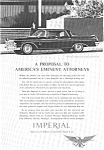 Chrysler Imperial Crown Ad 1962