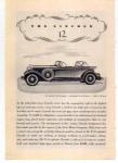 Lincoln V-12 Sport Phaeton Ad 1932