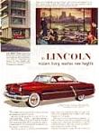 1953 Lincoln Ad In Color