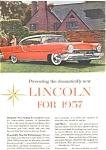 1957 Lincoln Hardtop Ad