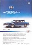 1985 Cadillac Advertisement Color