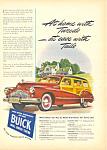 Buick Estate Wagon Automobile Ad 1946