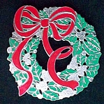 Holiday Christmas Holly Berry Wreath Trivet