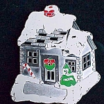 Holiday Christmas Snow Covered House W M Rogers Trivet