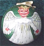 Christmas Angel Tin Candy Container