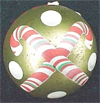 Christmas Candy Canes Tin Candy Container