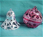 Set Of 2 Hard Plastic Holiday Christmas Tree Ornament