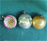 Set Of 3 Christmas Tree Glass Ornament
