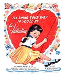 E. Rosen Co. Candy Valentine- Girl Swinging
