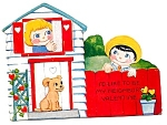 Valentine Girl, Boy, Puppy, Neighbors