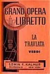Vintage La Traviata Grand Opera Libretto