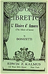 Vintage L' Elisire D' Amore Grand Opera