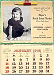 1948 Early Mayer's Market Ad Calendar