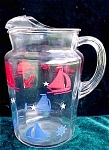 Ships Anchors And Stars Ice Tea Pitcher- Red White And Blue