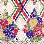 Fruit And Basket Weave Kitchen Linen Tea Towel