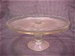 Jeannette Glass Co.- Cake Plate - Harp Design