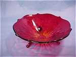 Amberina Footed Candy Dish