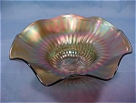 Northwood Stippled Rays Ruffled Bowl
