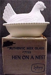 Milk Glass Hen On Nest #7155 Indiana Glass Mib