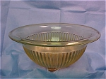 "Depression Amber Ribbed 9 ¾"" Mixing Bowl"