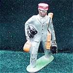 Barclay Black Porter Lead Toy Soldier