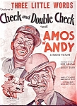 Amos 'n' Andy - Check And Double Check Sheet Music