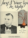 Just A Year Ago To-night - Dick Fiddler 1933