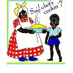 Black Mammy Black Americana Bithday Card