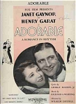 "Adorable - Janet Gaynor 1933 Movie ""adorable"""