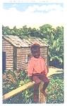 Black Americana Southern Comic Postcard