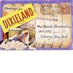 Dixeland Black Americana Souvenir Post Card Folder