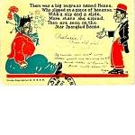 1906 Hanna Black Americana Postcard