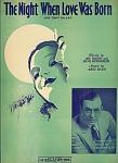The Night Love Was Born - Fox Trot Ballad - Harry Richman
