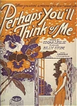 Perhaps You'll Think Of Me - 1926 Barbelle Cover Art