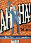 Ah-ha - Ted Lewis 1925