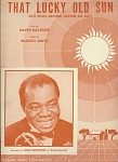 That Lucky Old Sun - 1949 Louis Armstrong Photo