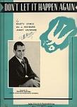 Don't Let It Happen Again - Frankie Masters 1934