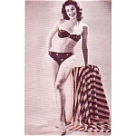 1940-50s Pin Up Girlie Arcade Card