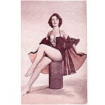 1940-50s Pin Up Girl Arcade Card