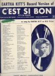 C'est Si Bon - It's So Good - Eartha Kitt 1950