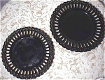 1930/40's Set Of 2 Black Glass Plates