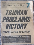 May 8, 1945, Truman Proclaims Victory