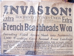 French Beachheads Won, June 6, 1944