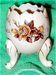 Beautiful 3 Footed Egg Vase By Napco, Japan