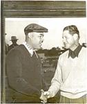 Original Photo Of Joe Louis And Golfer, 1952