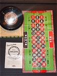 1950s Toy Roulette Game Set In Original Box
