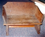 Vintage Childs Wooden Sled Seat