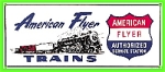 Porcelain American Flyer Train Sign