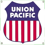 Union Pacific Railroad Porcelain Sign